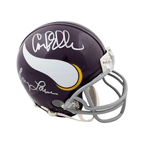 Purple People Eaters Autographed Vikings Throwback Mini Football Helmet JSA COA ()