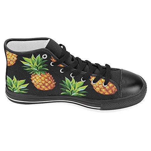 Interestprint Kick Bästa Klassiska Tillfälliga Duk Mode Skor Tränare Snörning Sneakers Ananas