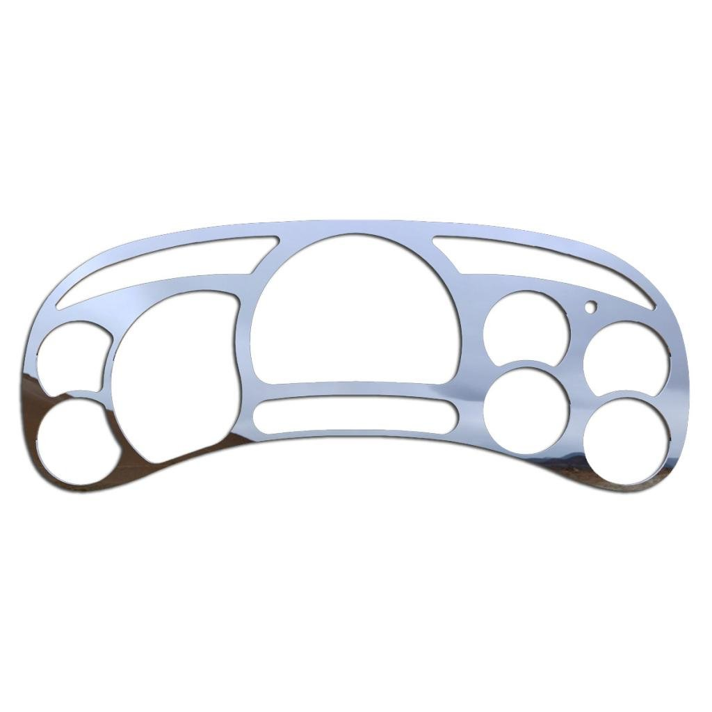 Polished Stainless Gauge Cluster Dash Bezel Trim fits: 2003-2007 Chevy Silverado 3500 - Ferreus Industries - BZL-311-Chrome-05