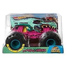 Hot Wheels Zombie Wrex Monster Truck, 1:24 Scale