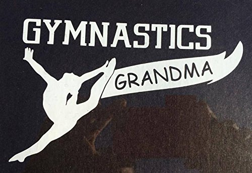 White Vinyl Gymnastics Window Wall Decal Sticker Gymnastics Grandma (6