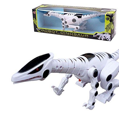 Dinosaur,Stoga Robot Dinosaur with Roaring Sound Walking Red Flash Light for Kids Toys (Red Dinosaur Costume)