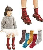 Menghao Girls Cute over calf Knee High Socks - kids child princess Cartoon Animal cat fox bear Cotton Stocking