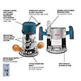 Bosch 12 Amp 2-1/4 Combination Horsepower Plunge and Fixed Base Variable Speed Router Kit 1617EVSPK with 1/4-Inch and 1/2-Inch Collets