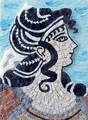 Greek Dancer Ariadne - DIY gift - Mosaic art kit - Mosaic wall art - Italian marble tiles from MyriJoy