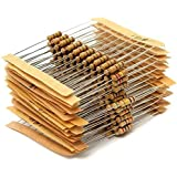 WINGONEER 300PCS 1/2W Watt 1% Carbon Film Resistors Assorted Kit Set 30 Values (1 ohm~ 3M ohm)