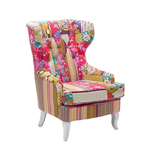 Beliani Butaca tapizada - Diseño de Patchwork - Molde ...