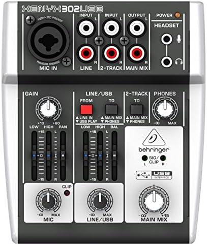 Behringer - Mesa de mezclas Xenyx 302USB: Amazon.es: Instrumentos ...
