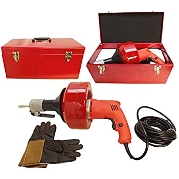 Electric Drill Style Auger Snake Pipe Drain Clearing