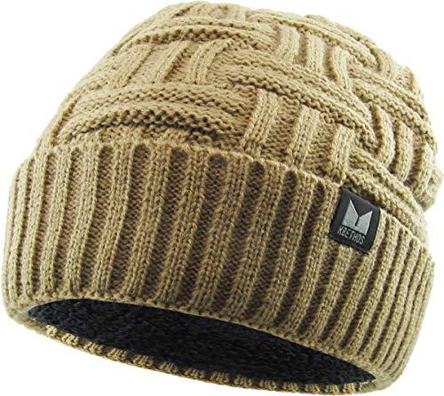 KBW-281 KHK Thick Basket Weave Knit Beanie