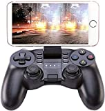 KINGAR Bluetooth Game Controller, PC Gamepad Joystick with Vibration Feedback for Android Phone/iOS/ PC/Playstation 3