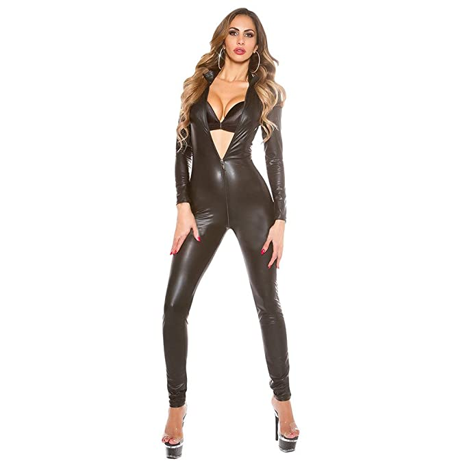 Amazon.com: Duanmei Womens Shiny Liquid Metallic Costumes ...