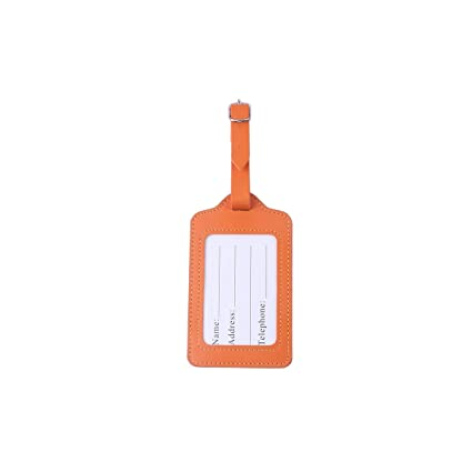 f2be72ed6b00 Amazon.com: Haoyushangmao PU Leather Luggage Tag, Business Trip ...