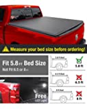 Premium TriFold Tonneau Truck Bed Cover For 2009-2016 Dodge Ram 1500, 5.8 feet (69.6 inch) Trifold Truck Cargo Bed Tonno Cover (NOT For Stepside)