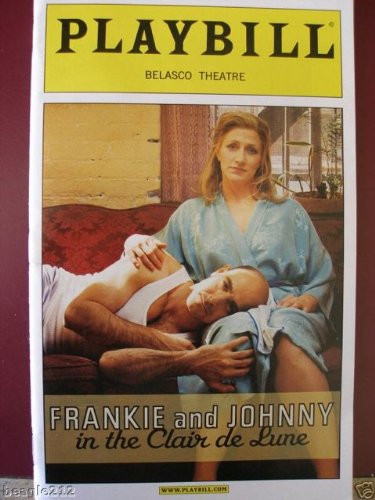 Playbill from FRANKIE AND JOHNNY in the Clair de Lune. This revival stars Edie Falco and Stanley Tucci. (Playbill) (Frankie & Johnny In The Clair De Lune)