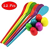 Nube Tech Egg and Spoon Race Game-Includes Storage Bag Perfect as a Birthday Party Game or Outdoor Games-6 Eggs and 6 Spoons
