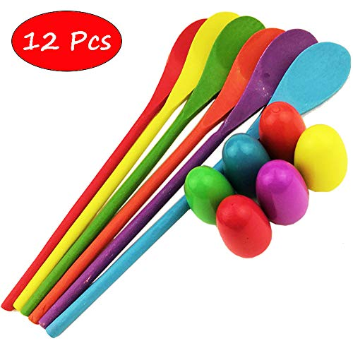 Nube Tech Egg and Spoon Race Game-Includes Storage