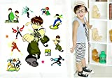 Fangeplus(TM) DIY Removable Kids Hero Ben 10 Art Mural Vinyl Waterproof Wall Stickers Kids Room Decor Nursery Decal Sticker Wallpaper 27.5x19.6