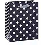 Gift Bag - Black With Silver Foil Spots - Small