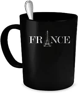 France Coffee Mug. France gift 11 oz. black