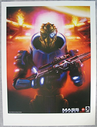 Mass Effect: Garrus Vakarian: Lithograph / Print By Anthony Palumbo from 2012 Sdcc: Vhtf