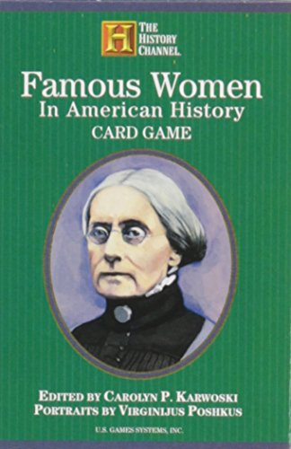 Famous Women in American History Card Game (History - Authors Card American Game