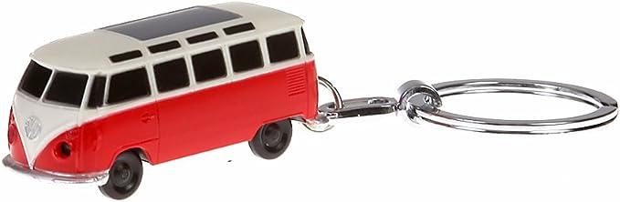 Vw Schlüsselanhänger Bulli Rot Mit Led Taschenlampe Koffer Rucksäcke Taschen