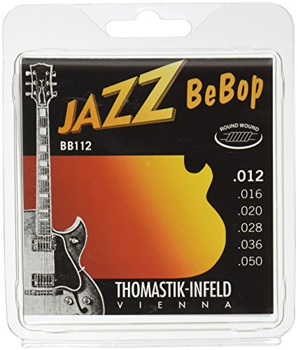 Thomastik-Infeld BB112 Jazz Guitar Strings: Jazz Bebop Series 6 String Set - Pure Nickel Round Wounds E, B, G, D, A, E Set
