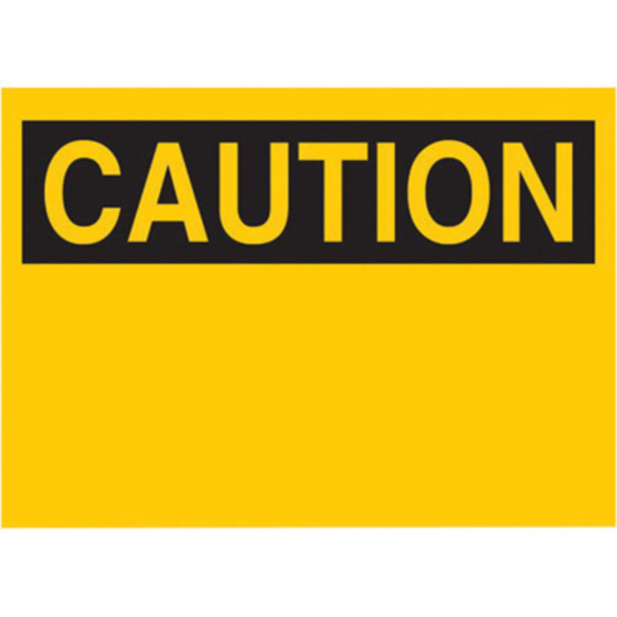 Brady 10'' X 14'' Black On Yellow .01'' B-101 Polycoated Tagstock Blank Sign''CAUTION''