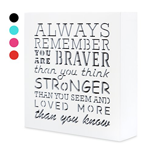 Day Wall Plaque (Kauza Always Remember You Are Braver Than You Think 5,5 x 5,5in by …- Inspirational gifts,Wood Wall Art & Positive Plaque, Great Gift for Mom, Sister or Grandma on the Mother Day,Birthday & etc. (s0))