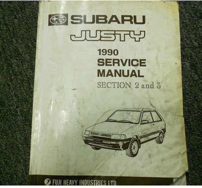 (1990 Subaru Justy Engine Transmission Service Repair Shop Manual FACTORY OEM 90)