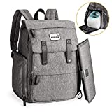 Momcozy Breast Pump & Diapers Bag Backpack, 23L Large Capacity & Waterproof with Insulated Pockets, Laptop Sleeve and Changing Pad, Designed for Breast Pumps Like Medela and Spectra, Evenflo, Lansinoh