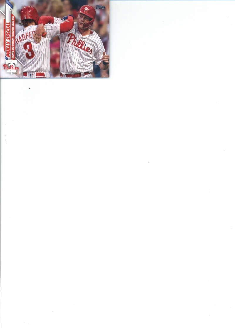 #675 Adam Haseley #467 #662 #361 Andrew McCutchen Vince Velazquez #667 #446 #519 #402 2020 Topps Series 2 Philadelphia Phillies Team Set of 9 Cards: Zach Eflin Philly Special Rhys Hoskins Didi Gregorius #687 David Robertson Andrew Knapp