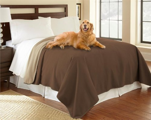 "100% Waterproof Mambe Furniture Cover for Pets and People (King/Queen 90""x 90"", Chocolate-Cappuccino)"