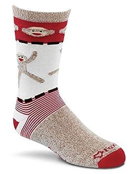 Fox River Kids rojo talón Mono Cartwheels calcetines de lana de merino, Unisex, marrón