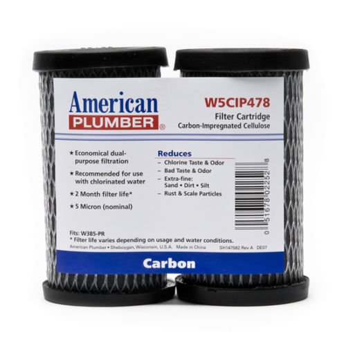 American Plumber W5CIP478 5 Micron Standard 5 Inch Undersink Filter (2 Pack) by Unknown