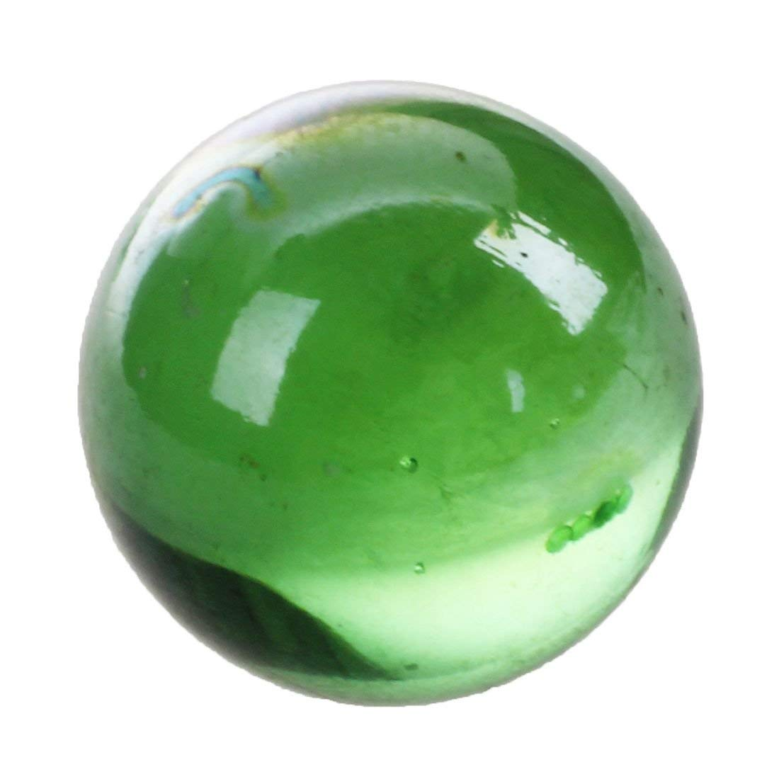 Tcplyn Premium Quality Glass Marbles - 10 Pcs Marbles 16mm Glass Marbles Knicker Glass Balls Decoration Color Nuggets Toy Green by Tcplyn (Image #3)