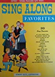 Sing Along Favorites: Includes Removable Lyric Sheets. [Sheet Music]. In a Little Spanish Town, Darktown Strutters' Ball, I'm in the Mood for Love, Tiger Rag, Whispering, Marching Along Together, Charmaine, MOTHER, Wonderful One, Rain, Seems Like...
