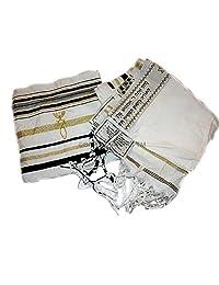 "New Covenant Messianic Tallit Prayer Shawl 72"" 22"" by Bethlehem Gifts TM (Black)"