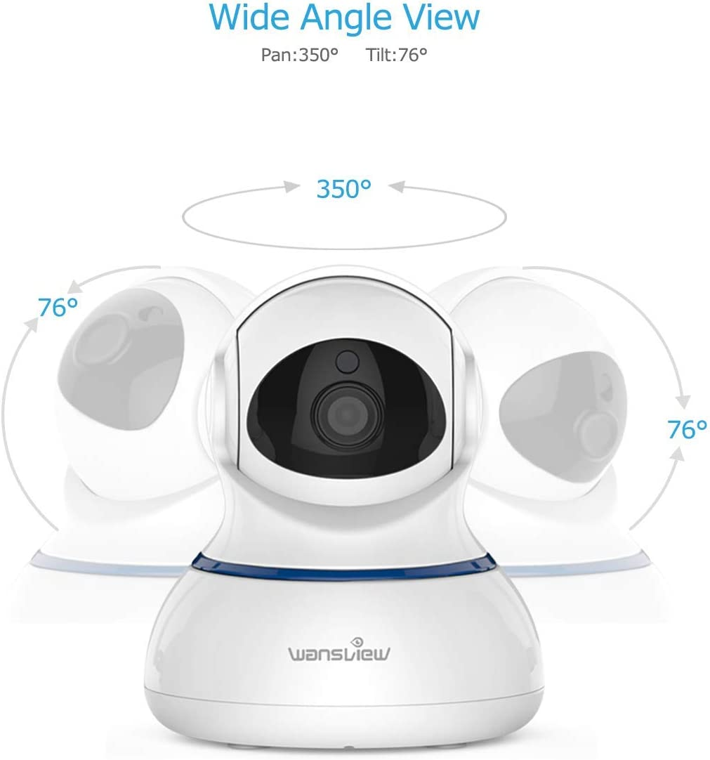 Wansview Wireless 1080P Security Camera, WiFi Home Surveillance IP Camera for Baby