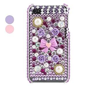 Conseguir Caso bowknot y floret estilo para iPhone 4 y (varios colores) 4s , Púrpula