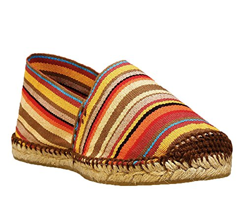 Men's Spain Espadrilles Women's in DIEGOS Stripes Hand Made Red Aaz5Wnqn
