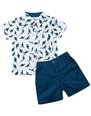 Toddler Boy Clothes Shorts Set Animal Bowtie Tops Shirts+Shorts Pants 2pcs Gentlemen Outfits Playwear Set