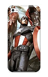 First-class Case Cover For Iphone 5c Dual Protection Cover Adi Granov Avengers