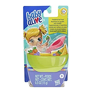 Baby Alive Powdered Doll Food Refill, Includes 5 Doll-Food Packets, 1 Spoon, Toy Accessories for Kids Ages 3 Years Old and Up
