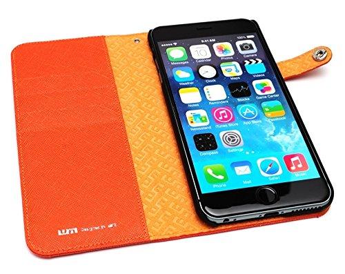 LIM's Designer Cordura Innovation Diary Type Case for iPhone 6 Plus (Orange)