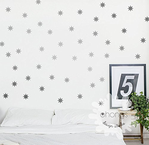 Star Wall Decal / Sparkle Star Decal / Seeing Star wall decal / Starbursts wall decal / 2.5