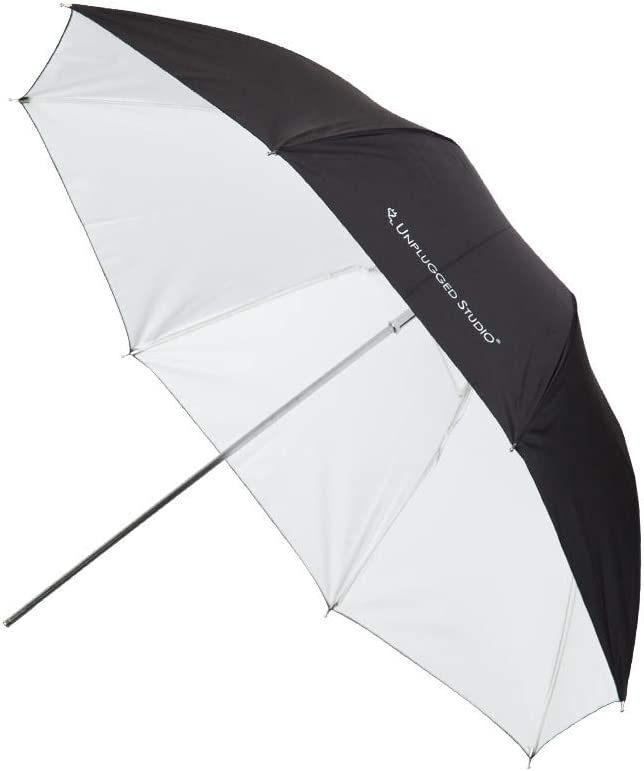 UN-052 33inch Silver Umbrella 2pack UNPLUGGED STUDIO Fiberglass Rib