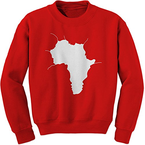FerociTees Crew Faces Of Africa African American Pride History Adult Large Red by FerociTees