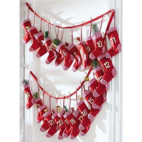 Adventskalender Red Sock zum selber befüllen, rote Socken